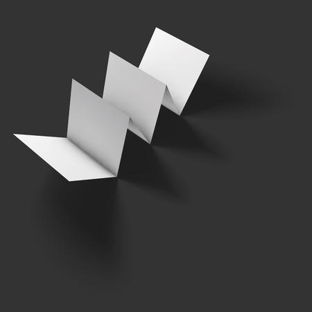 sign holder: Blank folded paper brochure mockup.