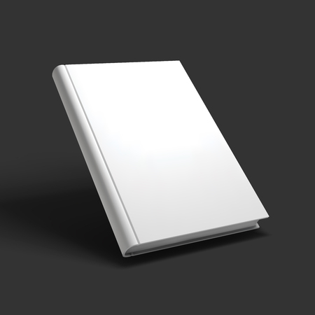 open notebook: Blank book, textbook, booklet or notebook mockup. Illustration