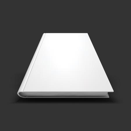 Blank book, textbook, booklet or notebook mockup. Illustration