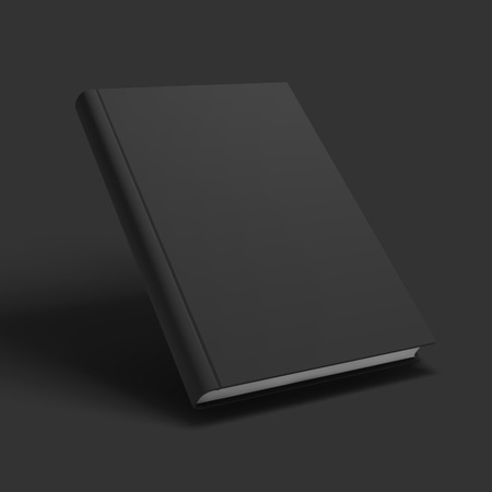Blank book, textbook, booklet or notebook mockup. Object for design and branding. Vector Illustrator EPS10. Vettoriali