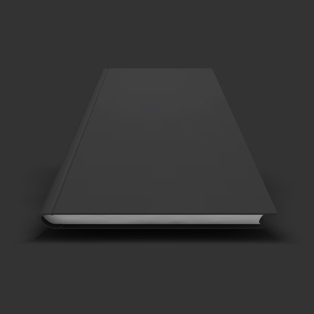 hardback: Blank book, textbook, booklet or notebook mockup. Object for design and branding. Vector Illustrator EPS10. Illustration