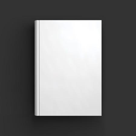 Blank book, textbook, booklet or notebook mockup. Object for design and branding. Vector Illustrator EPS10. Illustration