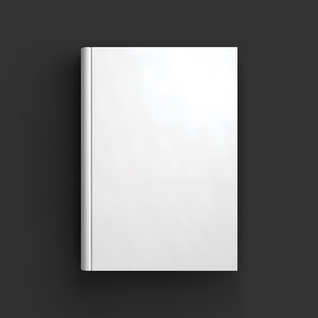 libros: Libro en blanco, libro de texto, folleto o maqueta port�til. Objeto para el dise�o y la marca. Vector Illustrator EPS10.