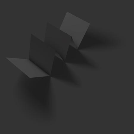 folded paper: Blank folded paper brochure mockup. Vector Illustration EPS10.
