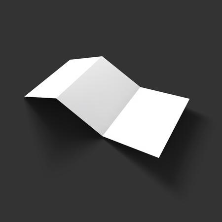 brochure: Blank trifold paper brochure mockup template. Vector Illustration EPS10.