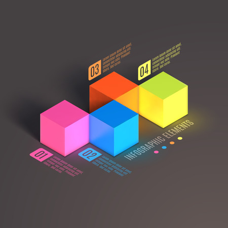 parallelepiped: Business Infographics cube. 3d vector isometric illustration. Can be used for web design and workflow layout