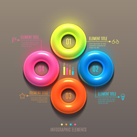 torus: Business Infographics torus concept. 3d vector illustration. Can be used for web design and workflow layout
