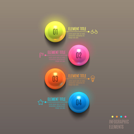 Business Infographics ball concept. 3d vector illustration. Can be used for web design and workflow layout