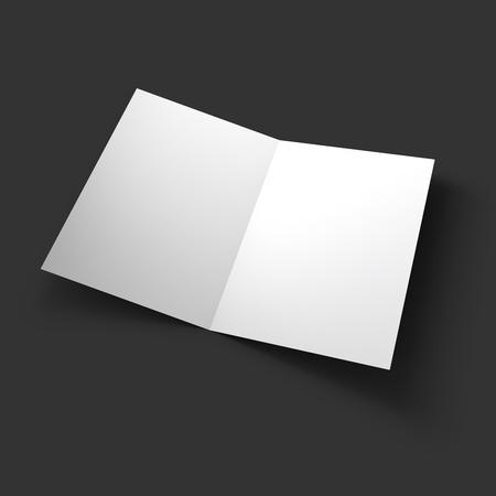 Magazine, booklet, postcard, business card or brochure mockup template. Vector Illustration EPS10.