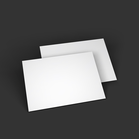 mockup: Magazine, booklet, postcard, business card or brochure mockup template. Vector Illustration  Illustration