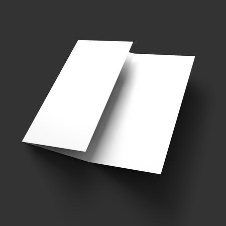 brochure cover: Blank trifold paper brochure mockup. Vector Illustration  Illustration
