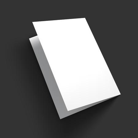 雑誌、冊子、はがき、名刺やパンフレットのモックアップ テンプレート。ベクトル図 EPS10。  イラスト・ベクター素材