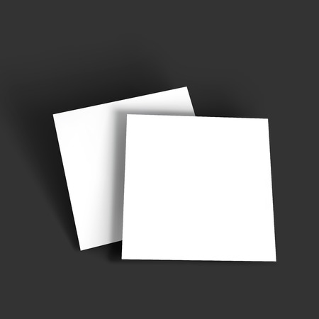 square: Magazine, booklet, postcard, business card or brochure mockup template. Vector Illustration EPS10.