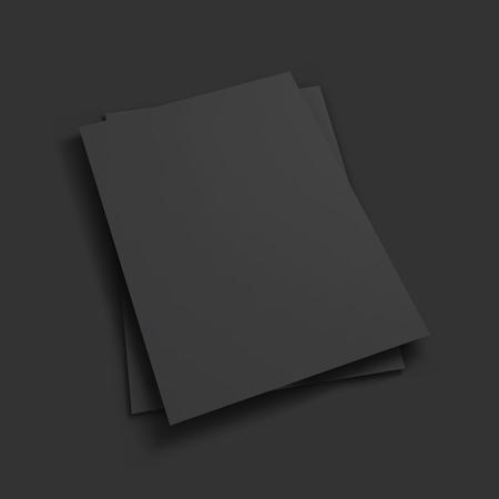 papel de notas: Magazine, folleto, postal, tarjeta de visita o plantilla de folleto maqueta. Ilustraci�n del vector.