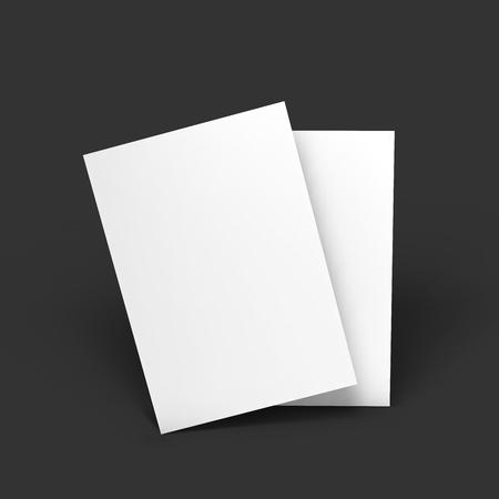 postcard design: Magazine, booklet, postcard or brochure mockup template. Vector Illustration EPS10. Illustration