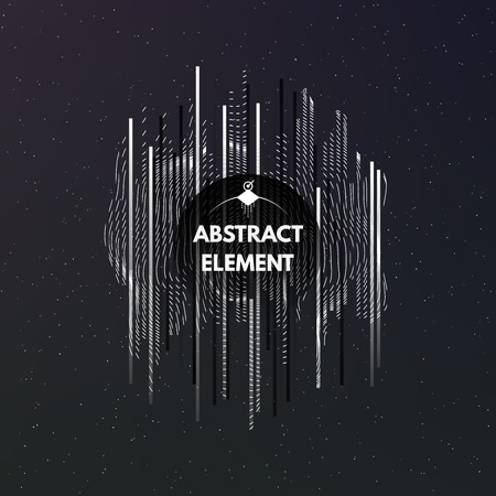 stria: Dark cosmic background with ornament and stripes. Abstract art element. Vector Illustration EPS10. Illustration