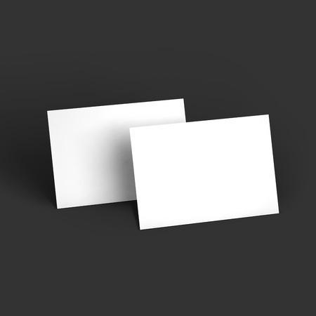 雑誌、冊子、はがきやパンフレットのモックアップ テンプレート。ベクトル図 EPS10。