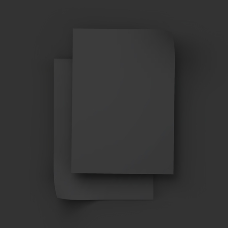 magazine stack: Stack of pages with curved corners. Top view. Business mockup template. Presentation of your branding and identity design. Vector Illustration EPS10.