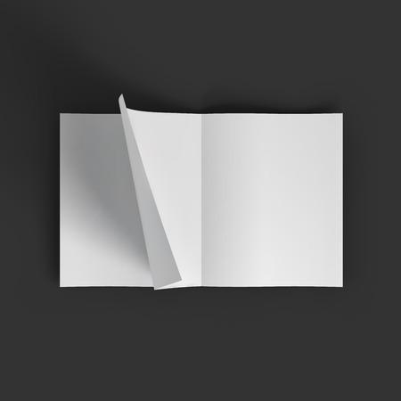 hoja en blanco: Blanca propagaci�n revista en blanco. Plantilla maqueta de negocios. Presentaci�n de su imagen de marca y dise�o de identidad. Ilustraci�n vectorial EPS10.