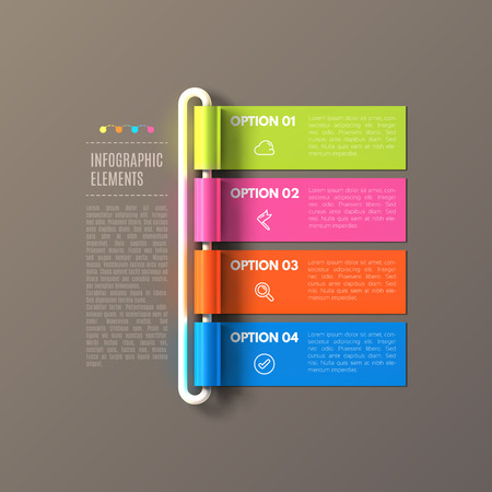 Banner steps business infographic template.