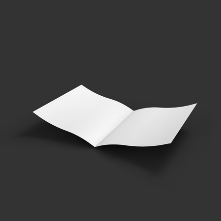 blank magazine: White blank magazine spread.  Illustration