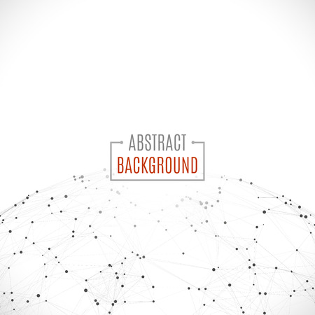 Wireframe mesh polygonal background.