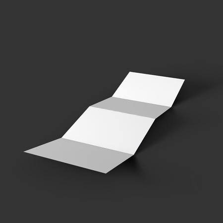 Zigzag White 6 Page Brochure Mockup Template Royalty Free Cliparts