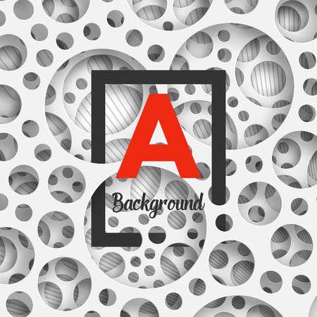holey: Abstract background holey wall with penetrating square border for your design. Vector Illustration EPS10.