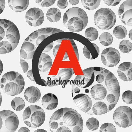 holey: Abstract background holey wall with penetrating circle border for your design. Vector Illustration EPS10.