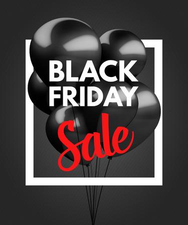 Black Friday Sale concept achtergrond. Vector Illustratie EPS10. Stock Illustratie