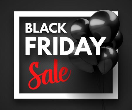 Black Friday Sale concept background. Vector Illustration Reklamní fotografie - 47319049