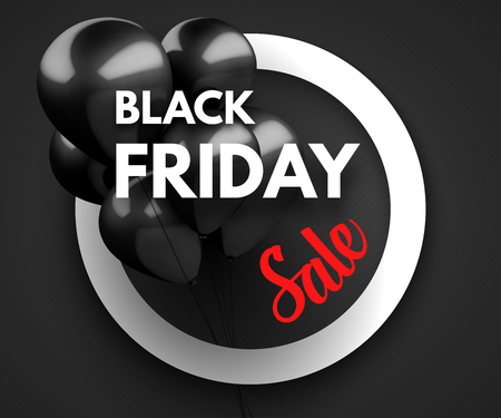 Black Friday Sale concept background. Vector Illustration