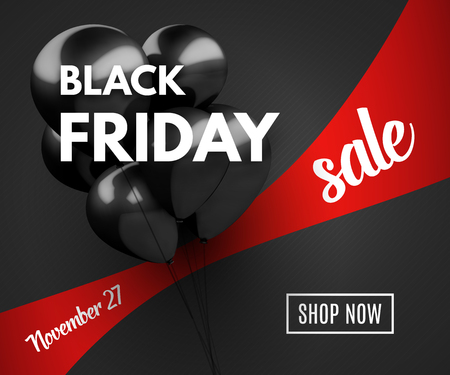 black friday: Black Friday Sale concept background. Vector Illustration