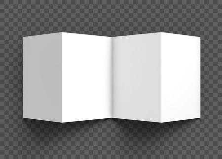 Booklet fold mockup template 向量圖像