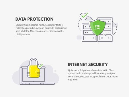Internet security and Data protection. Cyber security concept.