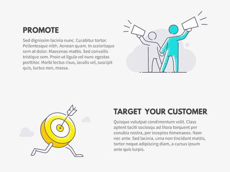 Promote and Target your customer. Marketing business concept.
