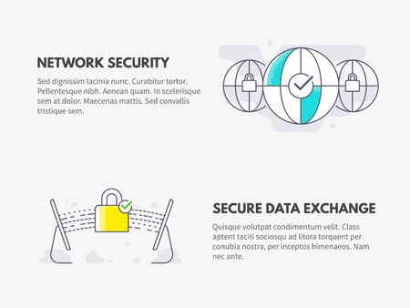 Network security and Secure data exchange. Cyber security concept.