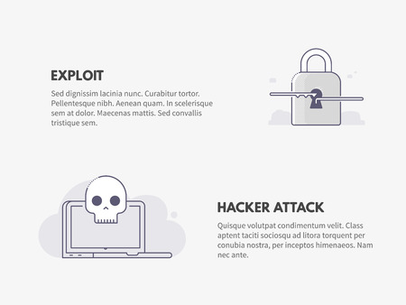 Exploit and Hacker attack. Cyber security concept.