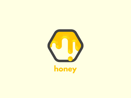 Honey icon design. Ilustrace
