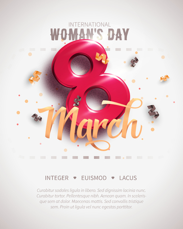 8 March. International Womans Day. Happy Mothers Day.