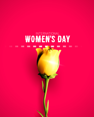 8 March sale flyer. International Womens Day. Happy Mothers Day. Flower isolated on background. Vector Illustration.