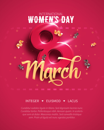 8 March. International Womens Day. Happy Mothers Day. Banco de Imagens - 95365004
