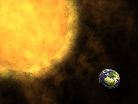 Earth and Sun, global warming Stock Photo - 12295462