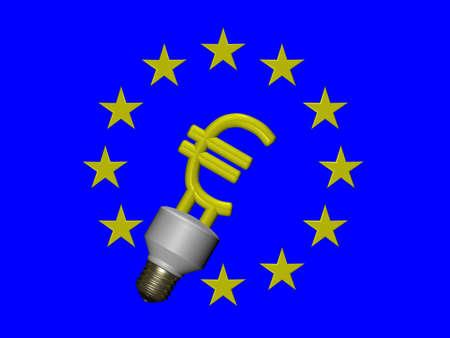 EURO symbol compact fluorescent lamp Stock Photo - 12295355