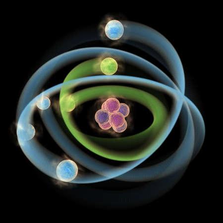 Planetary model of atom Stock Photo - 12295479