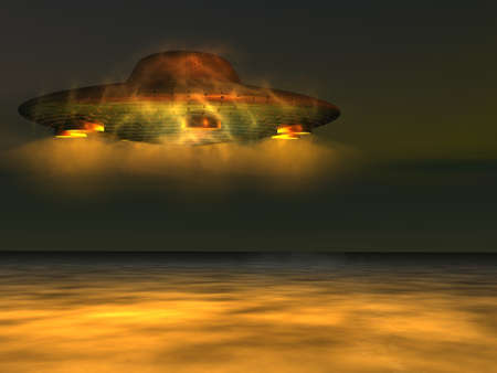 UFO - Unidentified Flying Object above the sea level Stock Photo - 12295478
