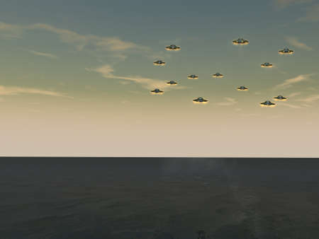 unidentified: UFOs - Unidentified Flying Objects Stock Photo