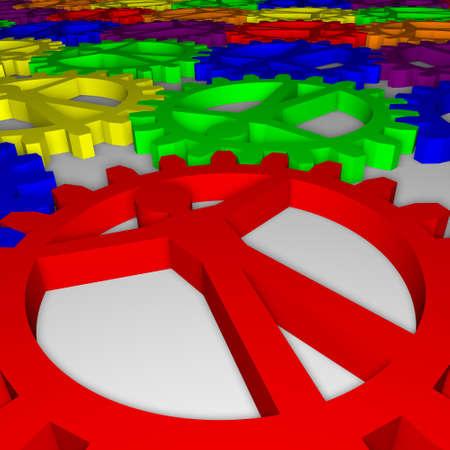 People like gears - company, work, individuality Stock Photo - 12995528