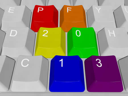 PF 2013 PC keys Stock Photo