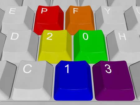 PF 2013 PC keys Stock Photo - 12995489